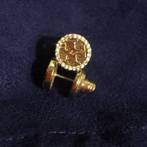 Tory Burch Pave Logo earrings